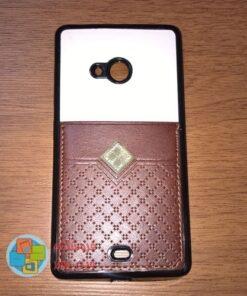 کاور دو لایه چرمی و ژله ای Lumia 540 مارک Fashion