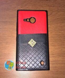 کاور دو لایه چرمی و ژله ای Lumia 730-735 مارک Fashion