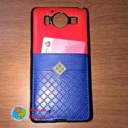 کاور دو لایه چرمی و ژله ای Lumia 950 مارک Fashion