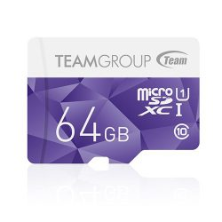 کارت حافظه Micro SDXC 64GB Class 10-u1 ColorCard مارک Team Group