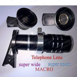 لنز های کلیپسی سوپر واید-سوپر زوم و ماکرو مارک Telephone Lens