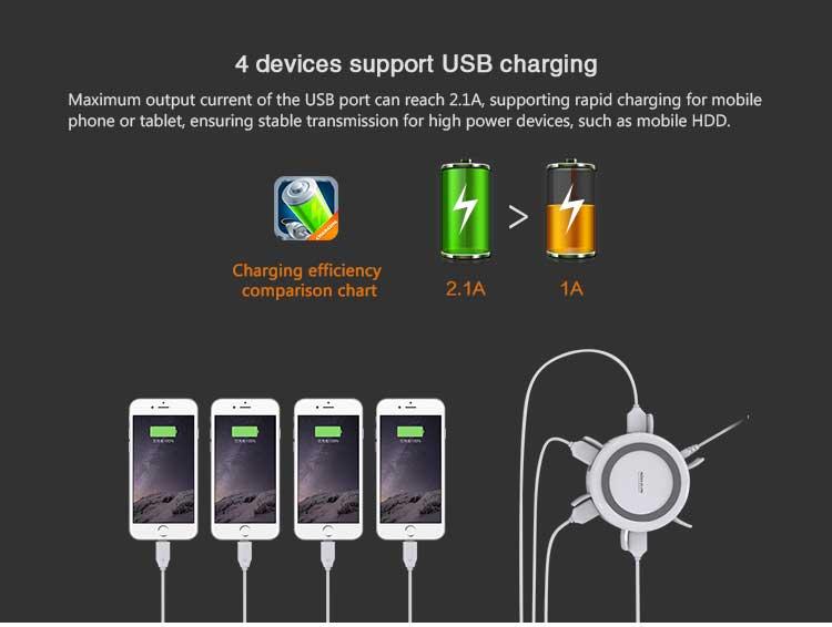 USB هاب و شارژر وایرلس نیلکین مدل HERMIT