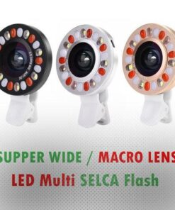 لنز کلیپسی سوپر واید و ماکرو SELCA با قابلیت Multi LED