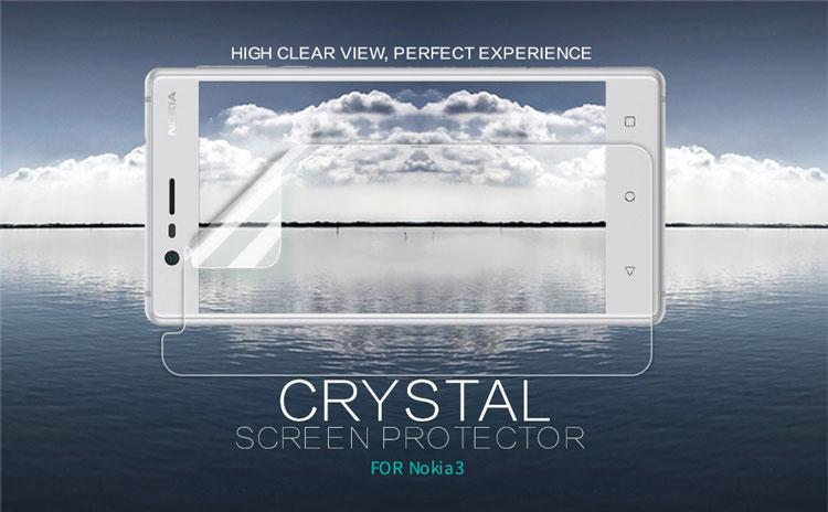 رچسب محافظ صفحه نمایش شفاف نوکیا 3 مارک نیلکین