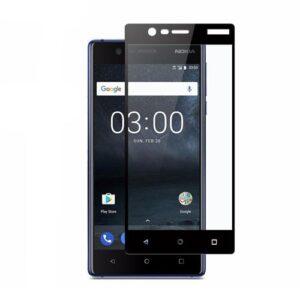 محافظ صفحه نمایش شیشهای 3D Full گوشی نوکیا 3