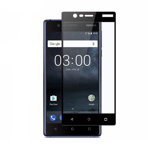 محافظ صفحه نمایش شیشهای 3D Full گوشی Nokia 3