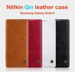 کیف چرمی گلکسی نوت 8 مارک Nillkin Qin