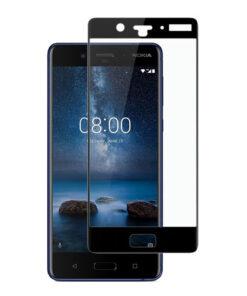 محافظ صفحه نمایش شیشهای 3D Full گوشی نوکیا 8