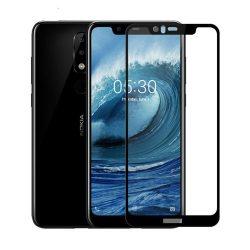 گلس تمام صفحه فول چسب نوکیا 5.1 پلاس (Nokia X5)