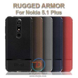 گارد ژلهای ضد ضربه گوشی نوکیا 5.1 پلاس  مدل Rugged Armor