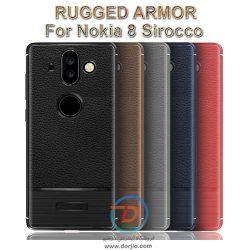 گارد ژلهای ضد ضربه گوشی نوکیا 8 sirocco  مدل Rugged Armor