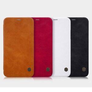 کیف چرمی اپل آیفون XS مارک Nillkin Qin