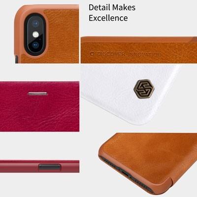 کیف چرمی اپل آیفون XXS مارک Nillkin Qin