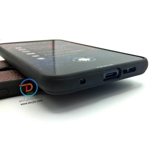 قاب محافظ چرمی نوکیا 6.1 پلاس / X6 مدل Shell Road