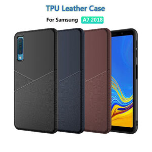 Samsung Galaxy A7 2018 Leather TPU Case