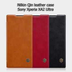 کیف چرمی سوني اكسپريا XA2 Ultra مارک Nillkin Qin