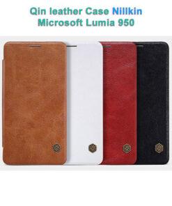 کیف چرمی مایکروسافت لومیا 950 مارک Qin نیلکین