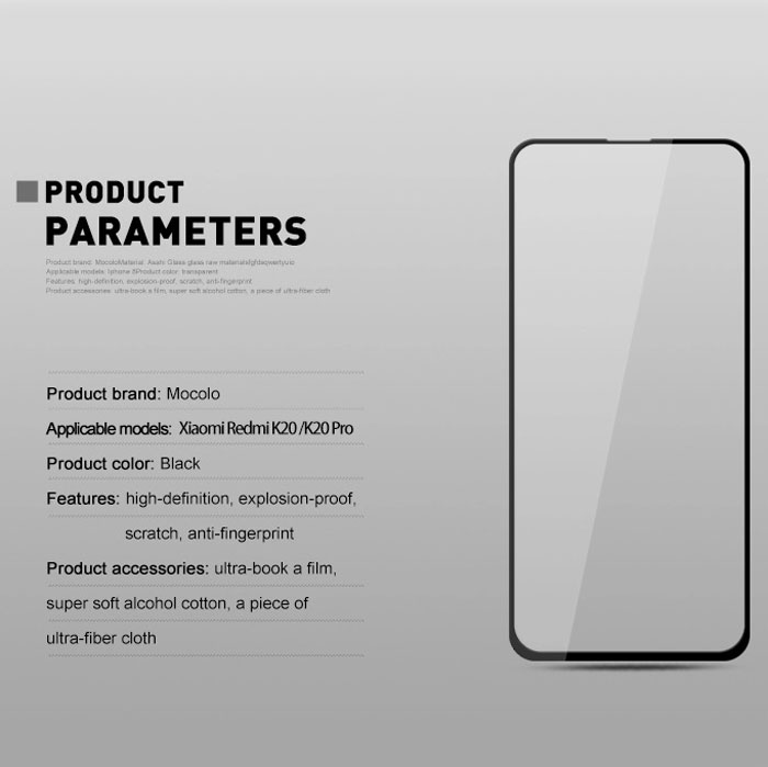 گلس 3D فول گوشی شیائومی ردمی K20