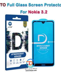 گلس فول +D گوشی نوکیا 3.2 مارک LITO
