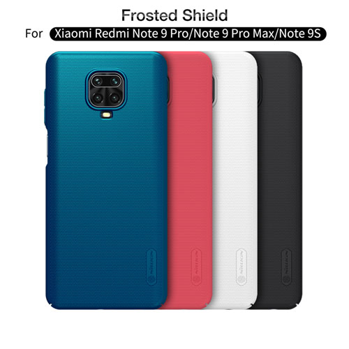 Xiaomi Redmi Note 9 Pro/9 Pro Max/9S Super Frostedقاب محافظ شیائومی ردمی نوت 9 اس مارک نیلکین + استند Shield