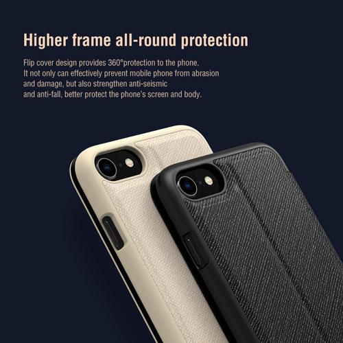 فلیپ کاور چرمی iPhone SE 2020 مارک Ming نیلکین