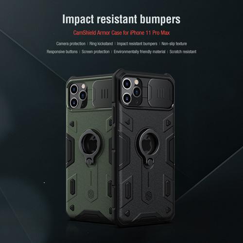 گارد رینگی نیلکین iPhone 11 Pro Max مدل Camshield Armor
