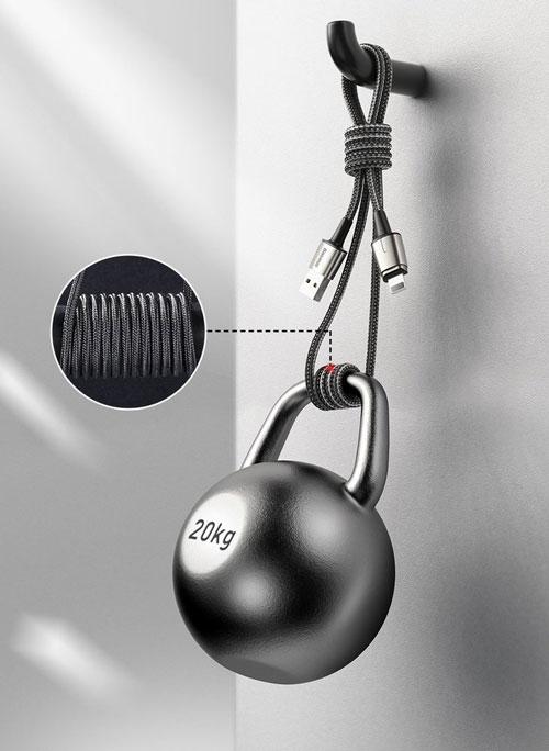 کابل مگنتی سه کاره 1 متری بیسوس مدل Baseus Zinc Magnetic Cable Kit TZCAXC-A01