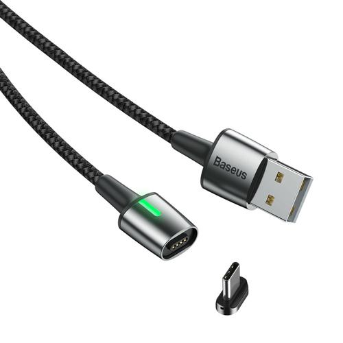 کابل مگنتی Type C یک متری بیسوس مدل Baseus Zinc Magnetic Cable CATXC-A01