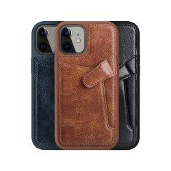 گارد روکش چرمی کلاسیک iPhone 12 Mini مدل Aoge نیلکین