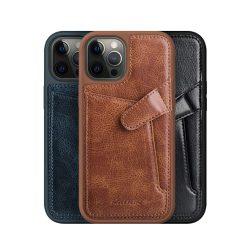 گارد روکش چرمی کلاسیک iPhone 12 Pro مدل Aoge نیلکین