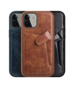 گارد روکش چرمی کلاسیک iPhone 12 مدل Aoge نیلکین