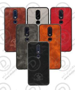گارد روکش چرمی Nokia 6.1 Plus/X6 مارک Santa Barbara