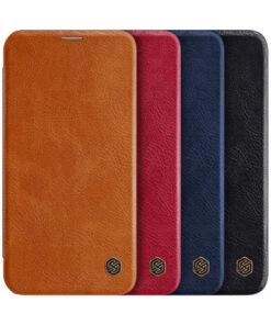 کیف چرمی نیلکین آیفون Apple iPhone 12 مدل Qin