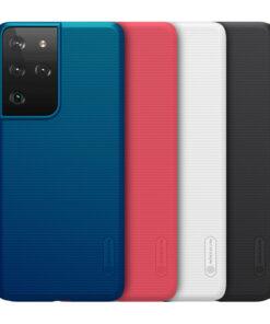قاب محافظ سامسونگ Galaxy S21 Ultra مارک نیلکین + استند