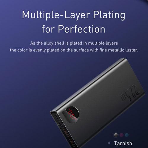 پاور بانک 20000 هزار بیسوس مدل Baseus Power Bank Adaman Metal Digital Display 22.5W PPIMDA-A0A