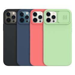 کاور Camshield سیلیکونی نیلکین با محافظ دوربین iPhone 12 Pro Max