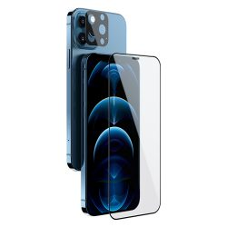 گلس تمام صفحه و محافظ لنز نیلکین iPhone 12 Pro Max