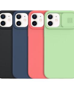 کاور Camshield سیلیکونی نیلکین با محافظ دوربین iPhone 12