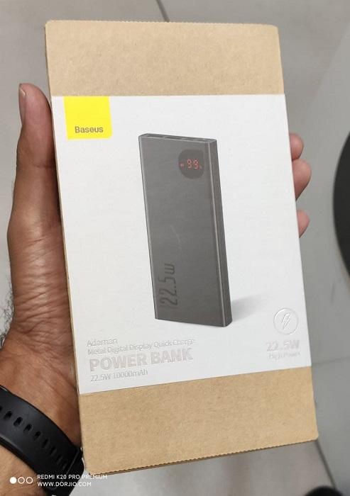 پاور بانک 10000 هزار بیسوس مدل Baseus Quick Charge Power Bank Digital Display 22.5W