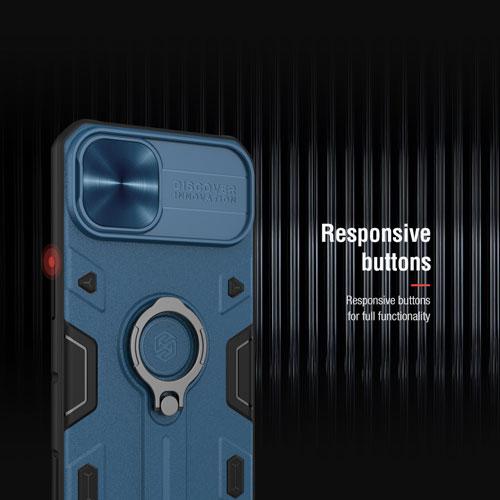 گارد محافظ رینگی iPhone 13 مدل Camshield Armor نیلکین