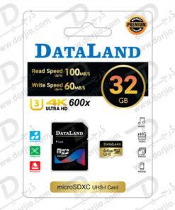کارت حافظه Micro SD 32GB Class 10 U3 مارک DataLand