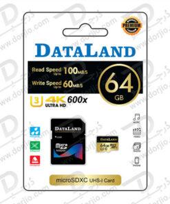 کارت حافظه Micro SD 64GB Class 10 U3 مارک DataLand